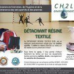 Détachant résine textile et ballons